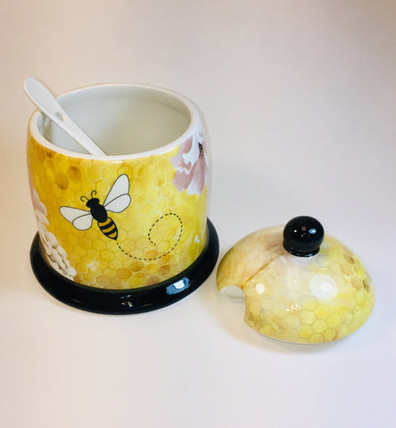All the Buzz Honey Jar with spoon