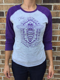 Queen Bee Baseball Tee - Purple