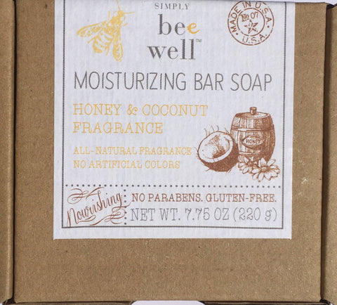 Soap Bar Be Well Honey& Coconut Moisturizing