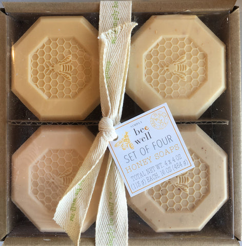 Soap Honeybee Design Simply Be Well Set of Four