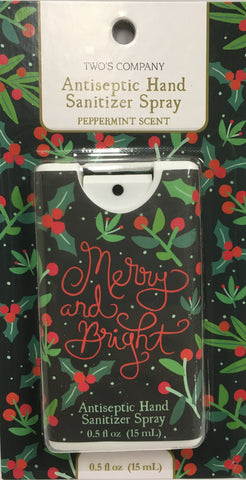 Body Care Hand Sanitizer Spray Merry and Bright