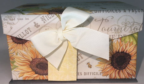 Gift Box Decorative Sunflower/Paris - Medium