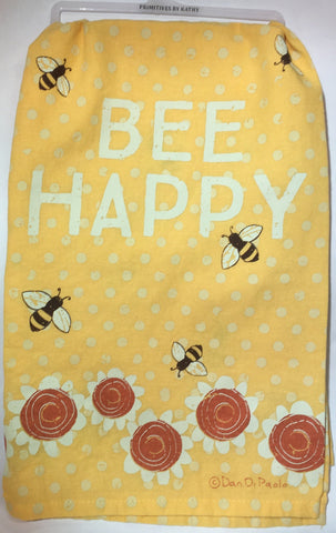 Kitchen Towel Flour Sack  - Bee Happy