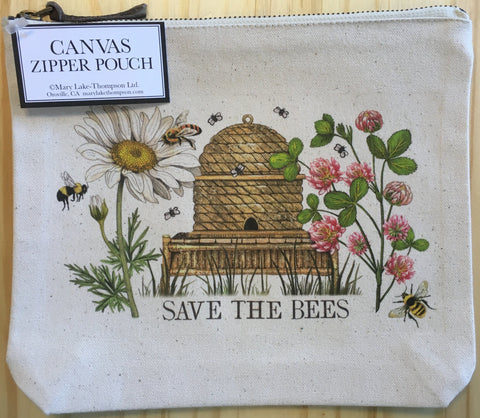Bag Canvas Pouch Clover Beehive