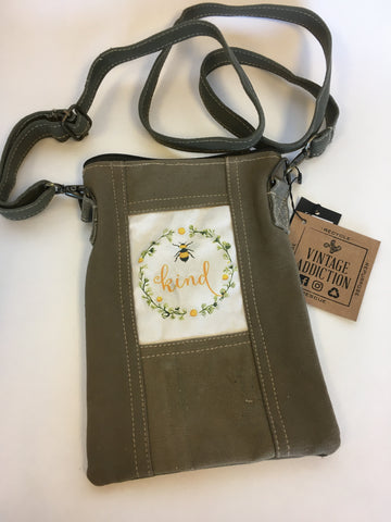 Bee Kind Tent Crossbody Bag