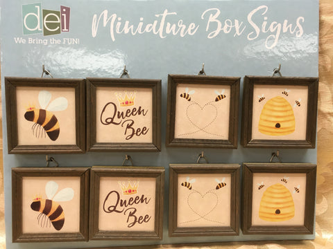 Miniature Box Signs