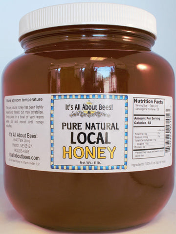 6lb/half gal Local Liquid Honey FOR IN STORE STORE PICK UP ONLY