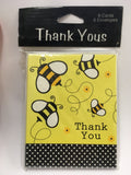Bee Theme Party Thank You Notes