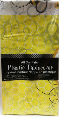 Bee Party Plastic Table Cover