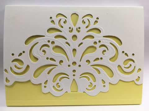 Journal Yellow and White Lace