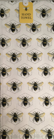 Hand Towel Bumble Bee on Hex
