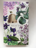 Lilac Violets and Bee Matchbox