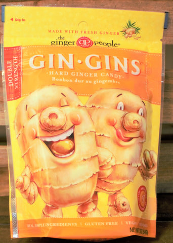 Gin Gins Double Strength Hard Ginger Chews Bag 3oz