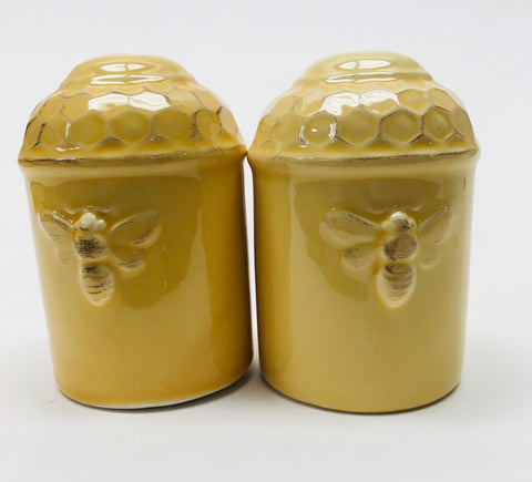 Kitchen Salt & Pepper Set Honeycomb Pattern