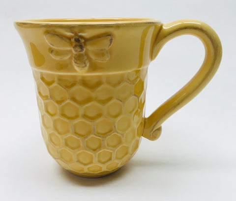Yellow Honeycomb Mug