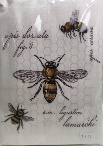 Honey Bee Apis Fig.8 Flour sack Kitchen Towel