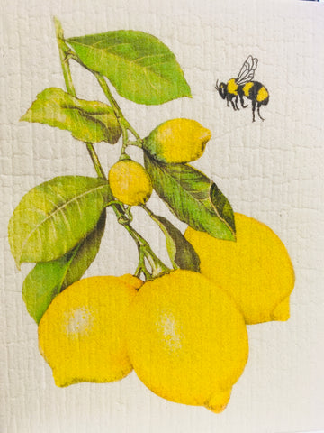 Kitchen Sponge Cloth Lemons and Bumble Bee