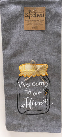 Towel Kitchen Bee Happy Welcome to our Hive