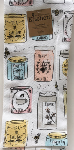 Kitchen Towel Tea and Honey Bee Inspired