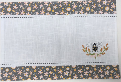 Place Mat with Embroidered Bee