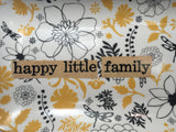 Stoneware Tray - Happy Little Family