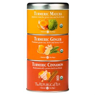 Tea Stackable Tin - Turmeric Matcha, Tumeric Ginger, Tumeric Cinnamon