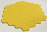 Coasters Silicone Honeycomb with Bees Design