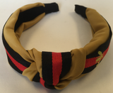 Apparel Top Knot Headband Bee Design