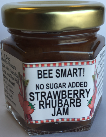 Mini No Sugar Added Strawberry Rhubarb Jam