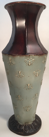 Decor Tin Vase Brown & Brown with Bees