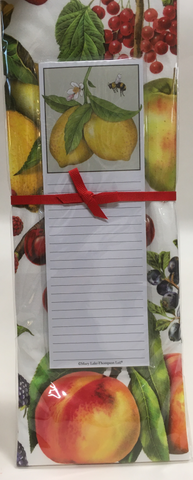 Kitchen Towel Flour Sack Note Pad Lemon Bee Mixed Fruit