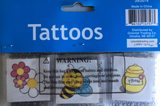 Bee Party Favors Tattoos