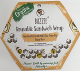 Buzzee Reusable Sandwich Wrap Busy Bees Pattern