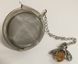 Tea Accessories Loose Leaf Infuser Bee with Amber Jewel Body