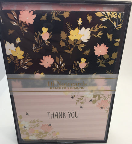 16 Notecards and envelopes thank you Busy Bee