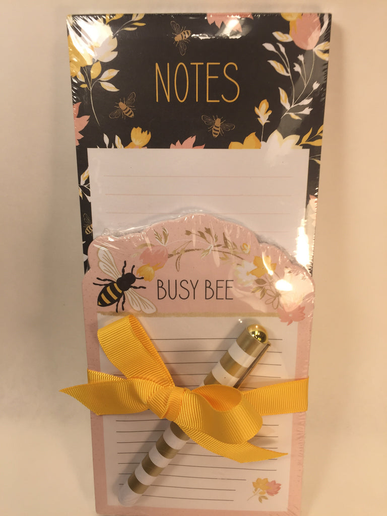 2 notepad Set w/ Pen- Busy Bee