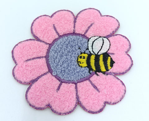 Patch Bee With Flower - Iron-On