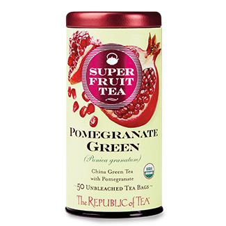 Organic Pomegranate Green Superfruit Tea Bags