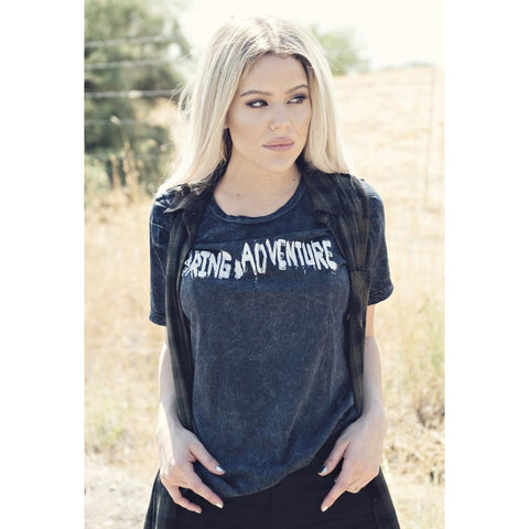 Distressed Rock & Roll T-Shirt | Daring Adventure | by SIGNED NOELLE - DARING Collection by Noelle Nieporte  - 2