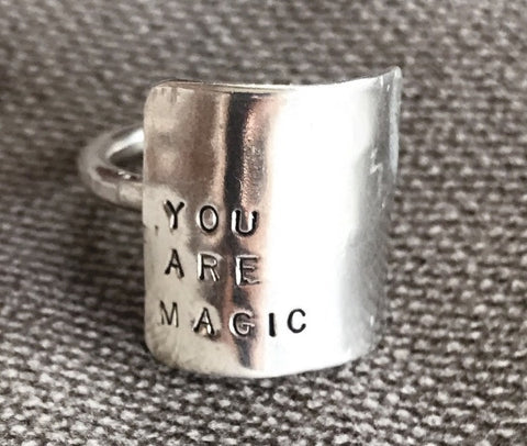 You Are Magic |Wide Plate Ring | SIGNED NOELLE