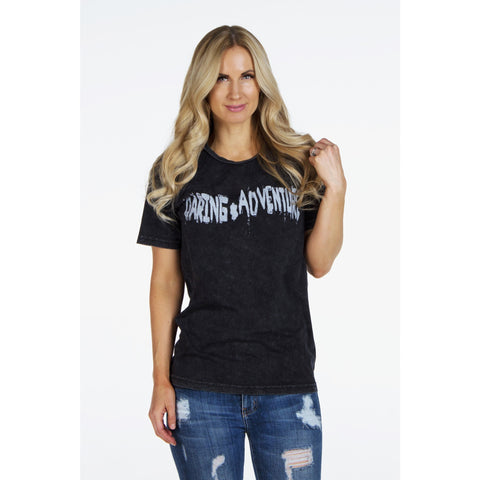 Distressed Rock & Roll T-Shirt | Daring Adventure | by SIGNED NOELLE - DARING Collection by Noelle Nieporte  - 1