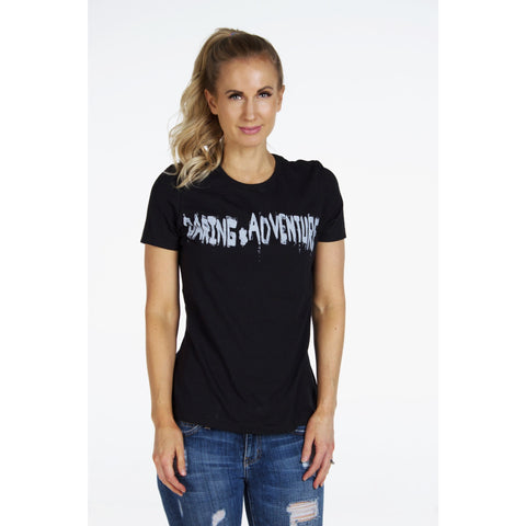 Distressed Rock & Roll TEE | DARING ADVENTURE | Signed Noelle - DARING Collection by Noelle Nieporte  - 2