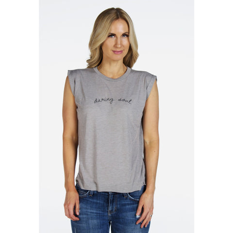 Flowy Daring Soul Tee with Rolled Cuffs | SIGNED NOELLE | - DARING Collection by Noelle Nieporte  - 1