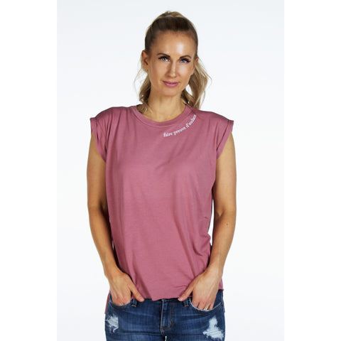 Flowy French Inspired Tee with Rolled Cuffs | SIGNED NOELLE | - DARING Collection by Noelle Nieporte  - 1
