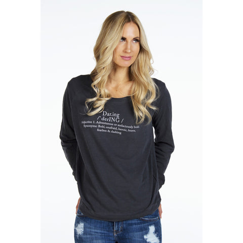 Flowy Long Sleeve Top |  Daring Definition | SIGNED NOELLE - DARING Collection by Noelle Nieporte  - 1