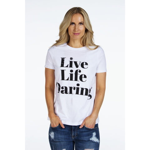 Relaxed Jersey Short Sleeve Signature Tee | LIVE LIFE DARING | SIGNED NOELLE - DARING Collection by Noelle Nieporte  - 2