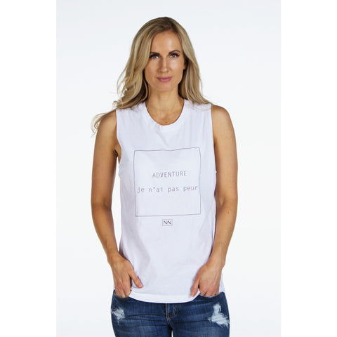 """JE N' AI PAS PEUR""  Muscle Tank 