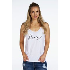 Slouchy Boyfriend Tank | DARING | - DARING Collection by Noelle Nieporte  - 3