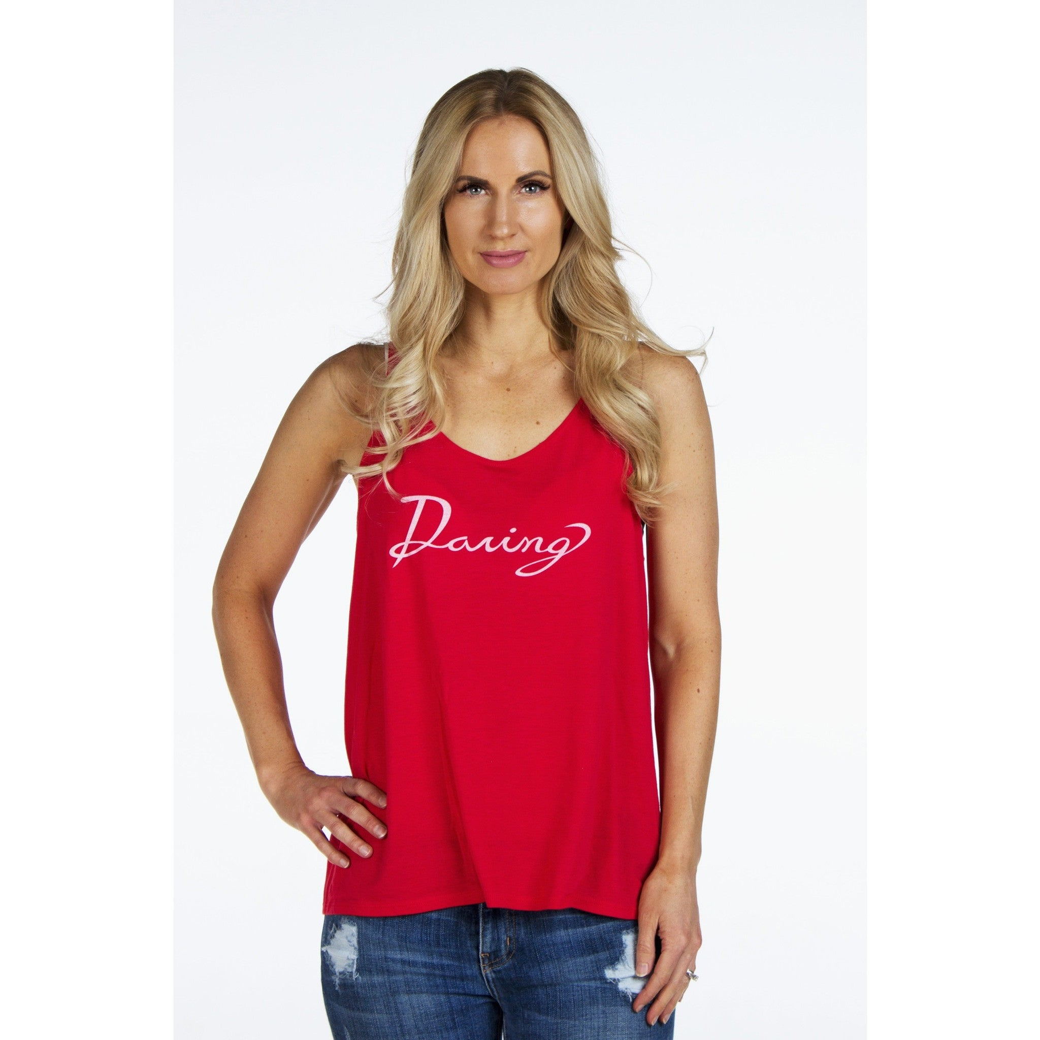 Slouchy Boyfriend Tank | DARING | - DARING Collection by Noelle Nieporte  - 2