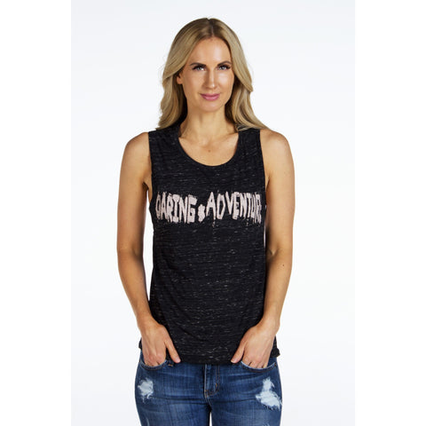 Flowy Scoop Muscle Tee | Daring Adventure | by SIGNED NOELLE